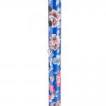 Трость одноопорная YU821 алюминиевая, с регулировкой по высоте 72,5-93,5 см, цвет: синяя с цветами