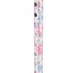 Трость одноопорная YU821 алюминиевая, с регулировкой по высоте 72,5-93,5 см, цвет: серебристая с цветами