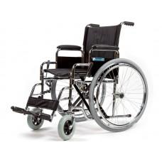 Кресло-коляска стандартная LY-250-L для инвалидов, механическая, цвет черный, стальная рама, ширина сиденья 50 см, грузоподъемность 150 кг
