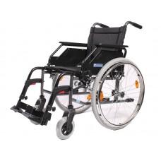 Кресло-коляска LY-250-1111 (Caneo B) для инвалидов, механическая, цвет черный, стальная рама, грузоподъемность до 130 кг, вес 19 кг