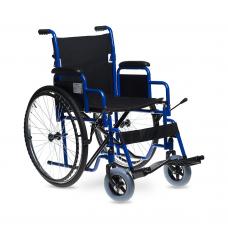 Кресло-коляска 3000 для инвалидов, механическая, цвет черный, стальная рама, грузоподъемность до 110 кг, литые/пневмоколеса, вес 18,7 кг, ширина сиденья по выбору: 43,5, 46 и 48,5 см