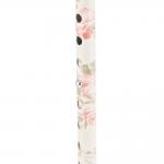 Трость одноопорная YU821 алюминиевая, с регулировкой по высоте 72,5-93,5 см, цвет:белая с цветами (20170000116)