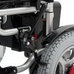 Инвалидная кресло-коляска с электроприводом FS101А с откидными подножками и съемными подлокотниками