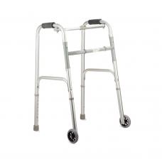 Ходунки металлические FS912L с регулировкой по высоте и передними колесами (201800006)