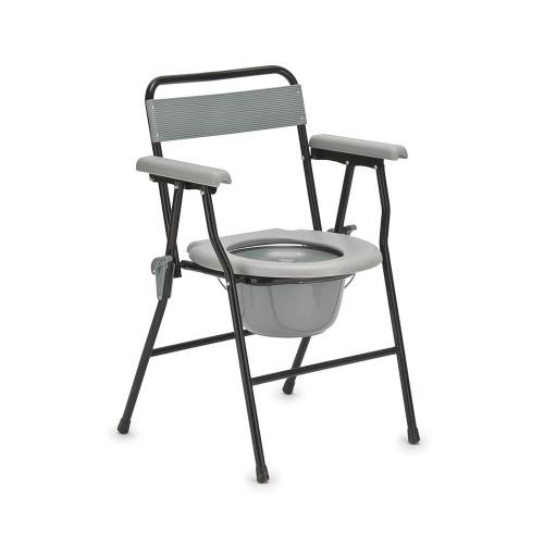 Кресло-туалет для инвалидов с опорной спинкой и несъемными подлокотниками FS899