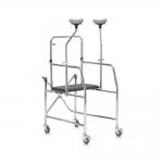 Металлические ходунки-роллаторы с регулировкой по высоте и сидением FS203
