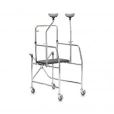 Ходунки-роллаторы металлические  FS203 с регулировкой по высоте и сидением