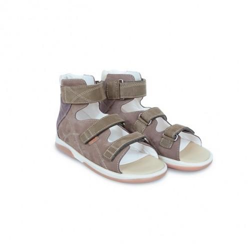 Детская ортопедическая обувь, коричневая модель HELIOS