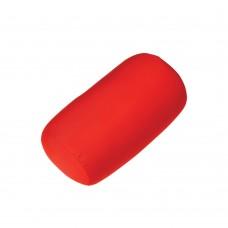 Подушка универсальная под голову и спину  F 8032 в форме валика, размер 30*15 см, цвет по выбору:  красный, синий