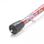 Трость одноопорная YU821 алюминиевая, с регулировкой по высоте 72,5-93,5 см, цвет: красная с цветами