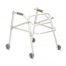 Ходунки-роллаторы металлические FS9122L реверсивного типа,регулируемые по высоте, на колесах, максимальная нагрузка 100 кг (201900002)