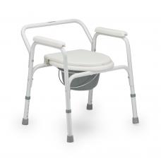 Кресло-туалет  FS810  для инвалидов с опорной рамой и несъемными подлокотниками, рабочая ширина  35,5 см, максимальная грузоподъемность 110 кг, вес 5,9 кг