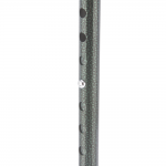 Трость одноопорная YU821 алюминиевая, регулируемая по высоте 72,5-93,5 см, цвет: черная крокодиловая