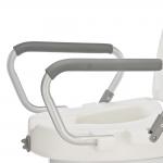 Съемное белое сиденье для туалета (насадка) С60750 с подлокотниками и крышкой