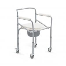 Кресло-коляска FS696 механическая с санитарным оснащением для инвалидов, ширина сиденья 38 см,грузоподъемность до 100 кг, вес 6,8 кг