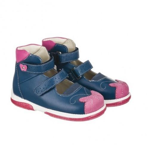 Детская ортопедическая обувь, темно-синяя модель PRINCESSA