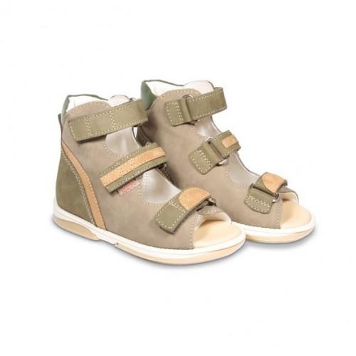 Детская ортопедическая обувь, коричневая модель VIRTUS