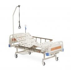 Кровать функциональная механическая FS 3031W с принадлежностями, четырехсекционная, с регулировкой угла наклона,