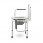 Кресло-туалет для инвалидов с опорной спинкой и откидными подлокотниками FS813