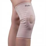 Эластичный фиксатор коленного сустава F1601 с силиконовой вставкой