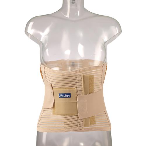 Поясничный бандаж FS 5506 облегченный сетчатый с упругими пластинами и эластичными лентами