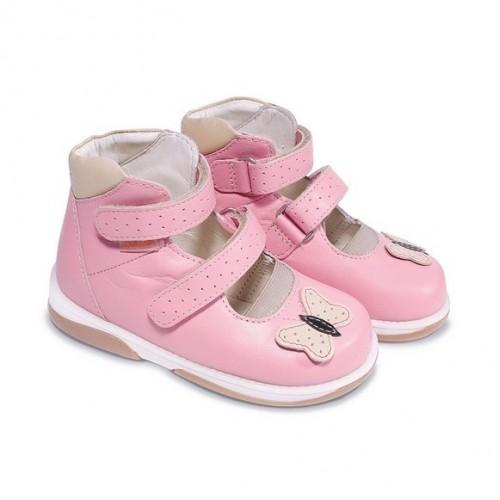 Детская ортопедическая обувь, розовая модель PRINCESSA