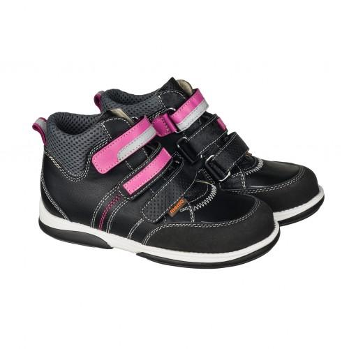 Детская профилактическая обувь, черно-розовая модель POLO