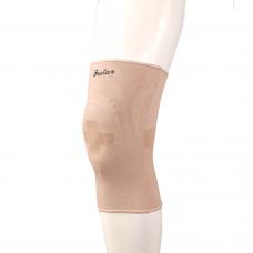 Фиксатор коленного сустава F1601 с силиконовой вставкой, эластичный, цвет бежевый, размер по выбору:S,M,L,XL