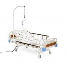 Кровать функциональная электрическая с принадлежностями RS301, четырехсекционная, с регулировкой угла наклона, с двумя боковыми рейлингами, грузоподъемность 250 кг, вес 90 кг