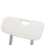 Сиденье-стул для ванны В51650 с U-образным вырезом и опорной спинкой, рабочая ширина 40 см, грузоподъемность 110 кг