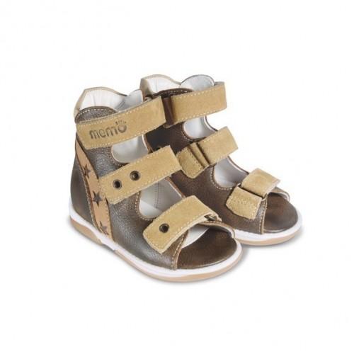 Детская ортопедическая обувь, коричнево-бежевая модель VIKTOR