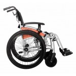 Кресло - коляска Excel G-Lite Pro 24 (Explorer) с широкими приводными колёсами для инвалидов VAN OS MEDICAL,Бельгия
