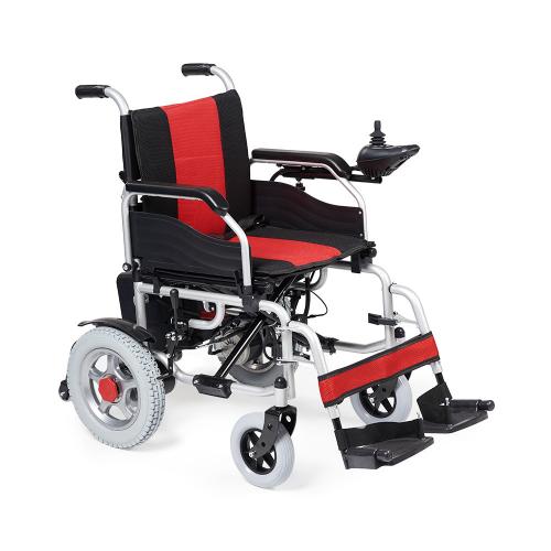 Кресло-коляска с электроприводом ФС111Адля инвалидов, откидные подножки, съемные подлокотники, пульт управления, ширина сиденья 45 см