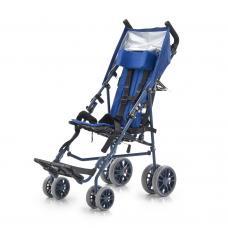 Кресло-коляска FS258LBJGP для детей-инвалидов и детей с ДЦП, механическая, с регулировкой угла наклона спинки и сиденья, ширина сиденья 26 см, грузоподъемность 50 кг, вес 11 кг