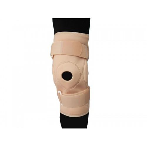 Ортез на коленный сустав BKFO C1KN-901 фиксирующий, с ребрами жесткости и отверстием