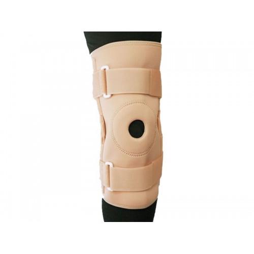Ортез BKFO C1KN-301 на коленный сустав фиксирующий с ребрами жесткости и отверстием