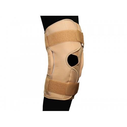 Ортез BKFO C1KN-503 на коленный сустав фиксирующий с ребрами жёсткости и отверстием разъемный