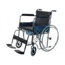 Кресло- коляска для инвалидов LY-250-682 с санитарным оснащением, шир.сиденья 45 см, грузоподъемность 120 кг, вес 19 кг