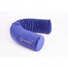 Подушка ортопедическая под голову и спину FLEX PILLOW DRQE3C, плотность 35 кг/м3, цвет синий, размер 70хd.9 см
