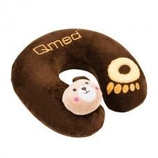 Подушка ортопедическая под шею TRAVELING KID PILLOW  DRQE3D_0P, плотность 55 кг/м3, цвет коричневый, размер 23х23х7,5 см