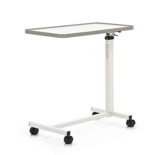 Прикроватный белый стол на колесах с регулировкой по высоте YU611