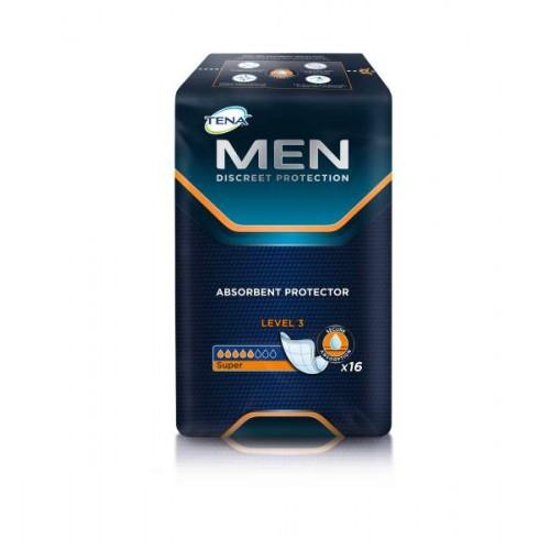 Прокладки урологические мужские TENA Men, Уровень 3, 16 шт./уп.