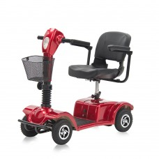 Коляска-скутер JRWB801 для инвалидов, четырехколесный с электрическим приводом, допустимая нагрузка 110 кг, вес 46 кг