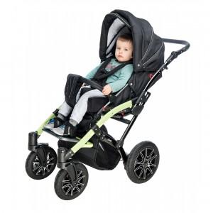 Кресло-коляска Гиппо Hp для детей инвалидов и детей с ДЦП, переставное сиденье, пневмаколеса, доп комплектация, размер по выбору 1 и 2