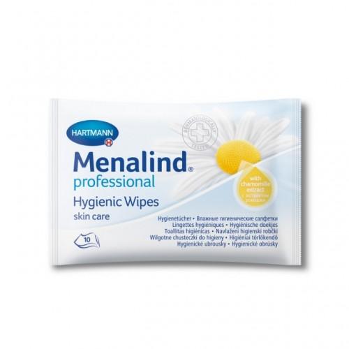 Влажные гигиенические cалфетки MENALIND professional, с экстрактом ромашки и антимикробным действием, 10 шт./уп.