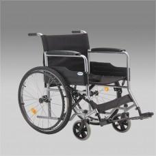 Кресло-коляска стандартная Н 007 для инвалидов, механическая, цвет черный, стальная рама, грузоподъемность до 110 кг, ширина сиденья 46,5 см, вес 16,1 кг