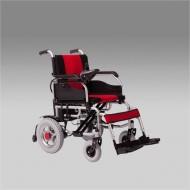 Кресло-коляска для инвалидов с электроприводом FS101А с откидными подножками и съемными подлокотниками, ширина сиденья 44 см