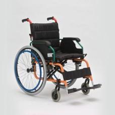 Кресло-коляска FS980LA механическая, для детей-инвалидов, , колеса с регулировкой по высоте, ширина сиденья 34 см, под рост 75-140 см, грузоподъемность 75 кг, вес 15,2 кг