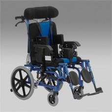 Кресло-коляска FS958LBHP для детей-инвалидов и детей с ДЦП, механическая, под рост 75-140 см, ширина сиденья 36 см, грузоподъемность 75 кг, вес 24,5 кг