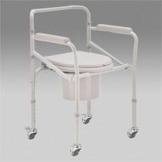 Кресло-коляска Н023В механическая с санитарным оснащением для инвалидов, шир.сиденья 38см, грузоподъемность до 120 кг, вес 8 кг